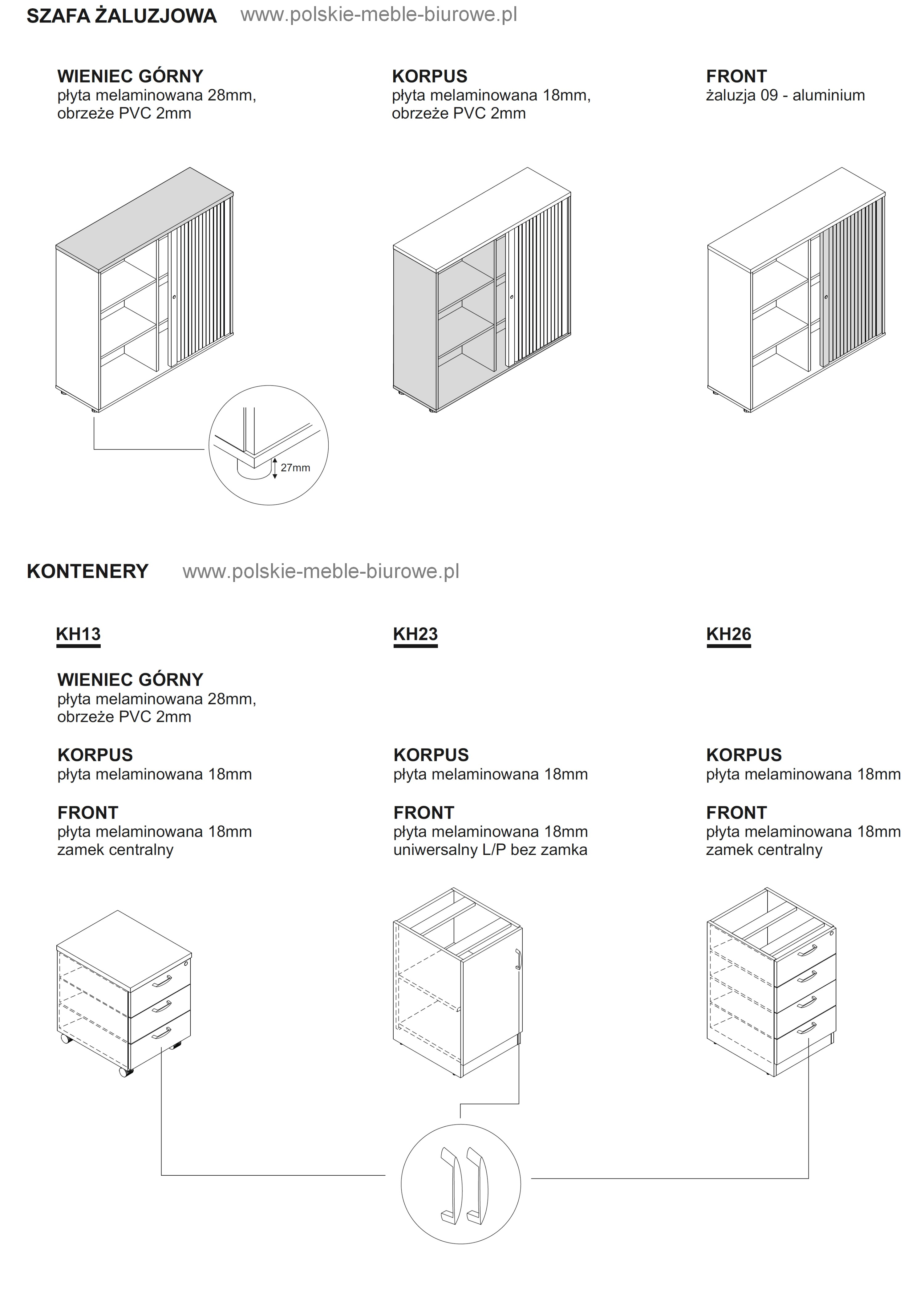 szafy aktowe żaluzjowe biurowe