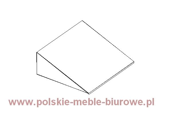 szafka metalowa- skośny daszek