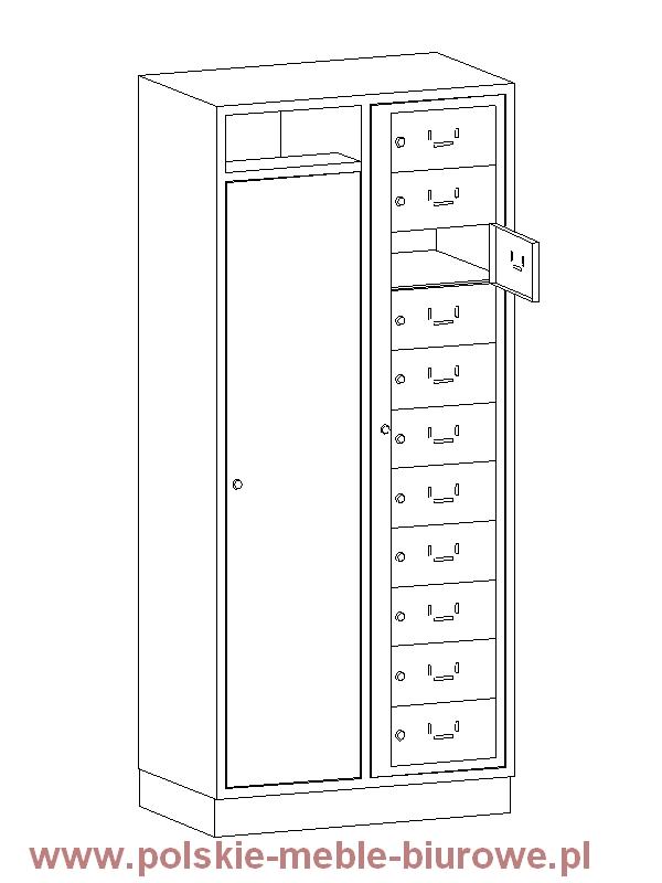 szafka śniadaniowa metalowa skrytkowa