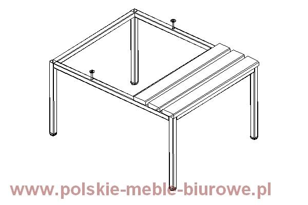 szafka metalowa- podstawa z ławką