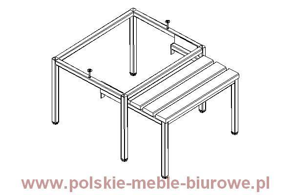 szafka metalowa- podstawa z ławką wysuwaną